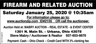 Firearm and Related Auction - January 25