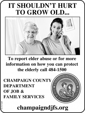 To reporter elder abuse or for more information on how you can protect the elderly call 484-1500