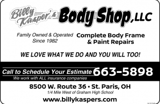 Complete Body Frame & Paint Repairs