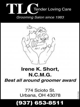 Irene K. Short, N.C.M.G. Best all around groomer award