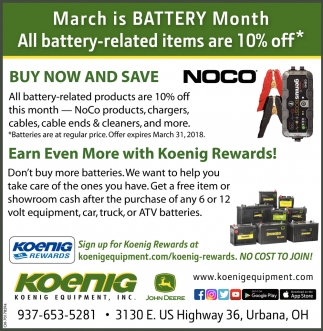 All battery-related items are 10% off