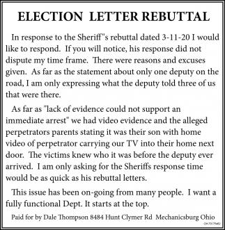 Election Letter Rebutal
