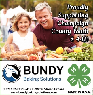 Proudly Supporting Champaign County Youth & 4-H!