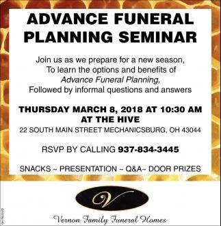 Advance Funeral Planning Seminar