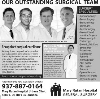 OUR OUTSTANDING SURGICAL TEAM