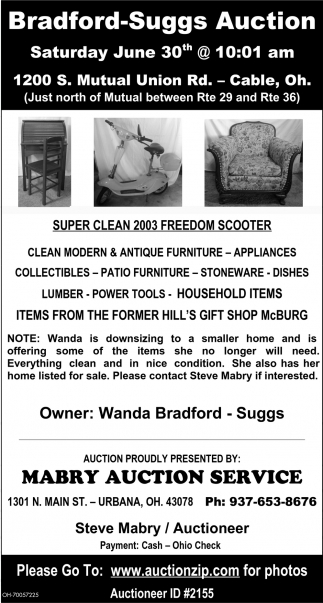 Bradford-Suggs Auction