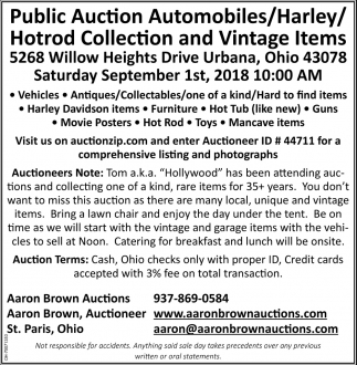 Public Auction Automobiles