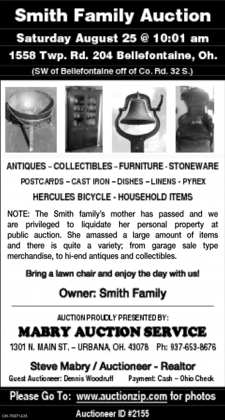 Smith Family Auction