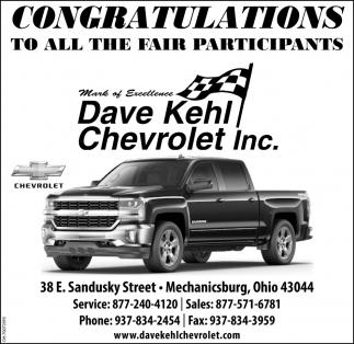 Congratulations To All The Fair Participants Dave Kehl