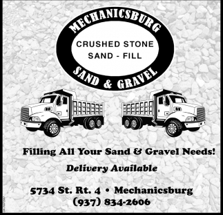 Crushed Stone, Sand, Fill