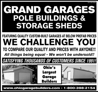 Featuring quality custom built garages at below prefab prices