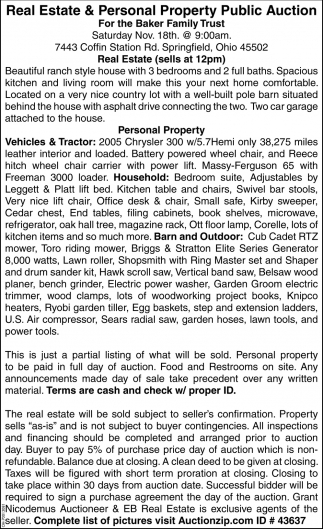 Real Estate & Personal Property Public Auction