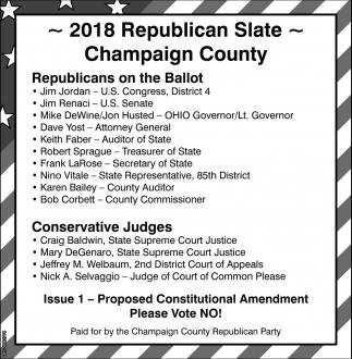 2018 Republican Slate