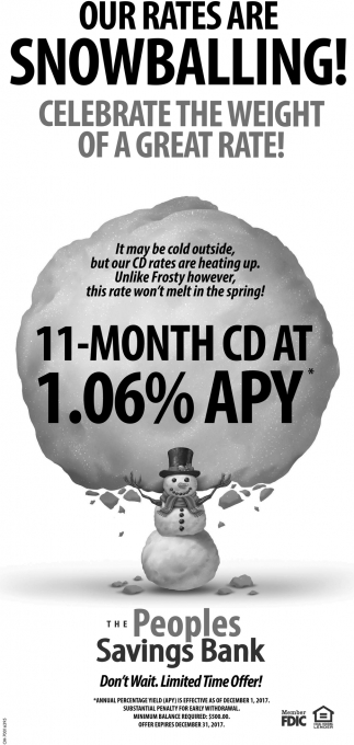 Our rates are snowballing!