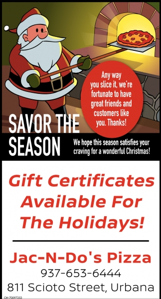 Gift Certificates Available For The Holidays!