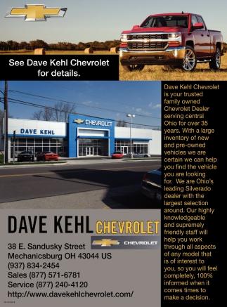 See Dave Kehl Chevrolet For Details Dave Kehl Chevrolet Inc