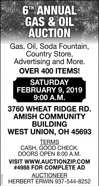6h Annual Gas & Oil Auction