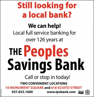 Still looking for a local bank?