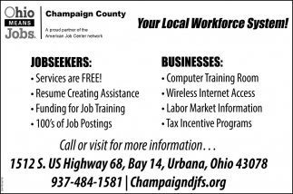 Your Local Workforce System!
