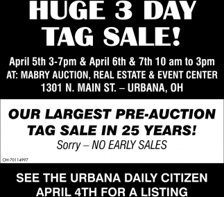 Huge 3 Day Auction!