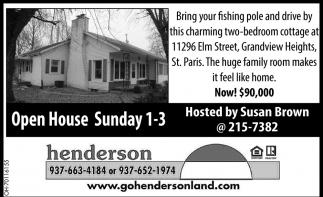 Open House - 11296 Elm Street, Grandview Heights, St. Paris