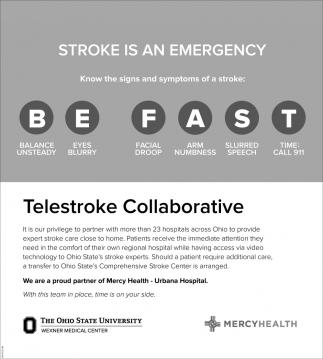 Stroke is an emergency