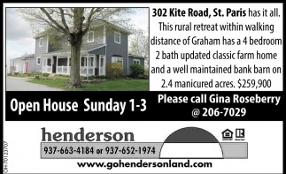 Open House - 302 Kite Road, St. Paris
