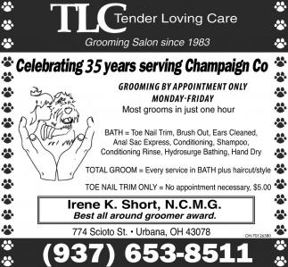 Celebrating 35 years serving Champaingn Co