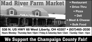 We Support the Champaign County Fair!