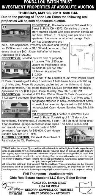 Investment Properties at Absolute Auction