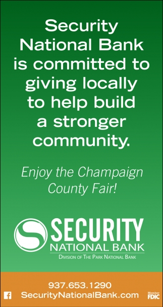 Enjoy the Champaign County Fair!