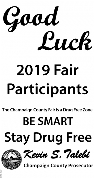 Good Luck 2019 Fair Participants