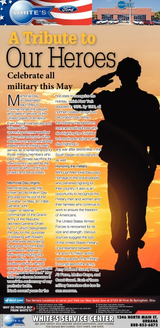 A TRibute to Our Heroes - Celebrate all military this May