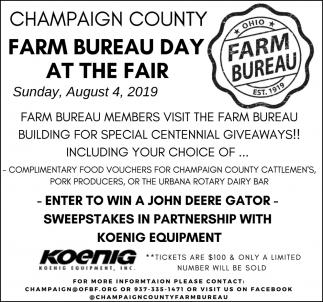 Farm Bureau Day At The Fair - August 4