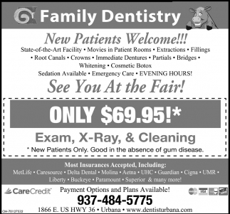 Exam  X-Ray & Cleaning $69.95