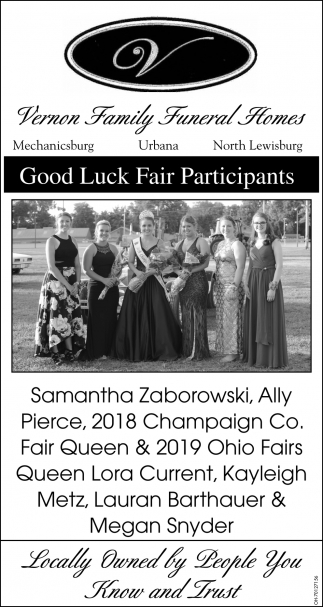 Good Luck Fair Participants - Queen Lora Current, Kayleigh Metz, Lauran Barthauer, Megan Snyder