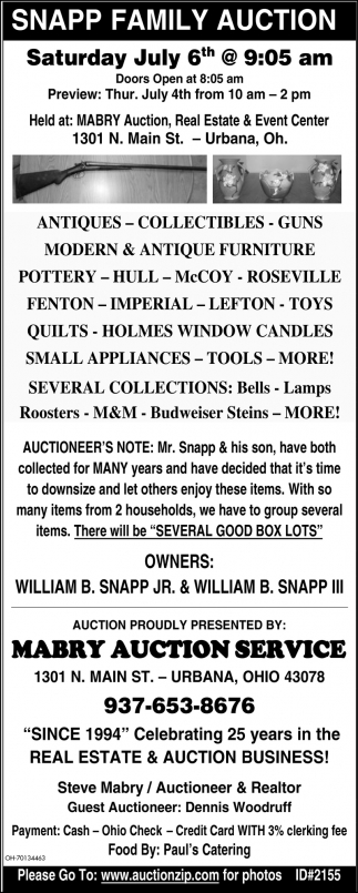 Snapp Family Auction