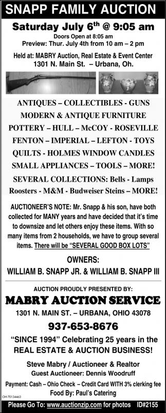 Snapp Family Auction