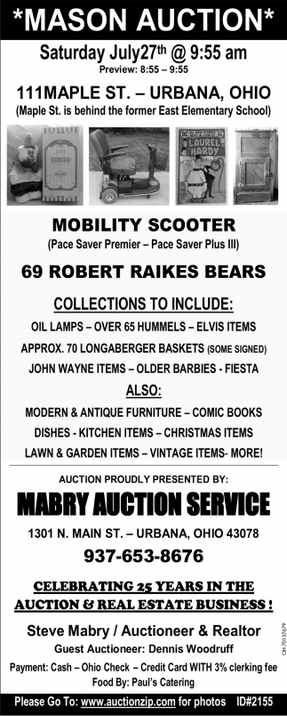 Mason Auction