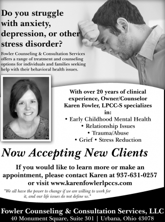 Now Accepting New Clients