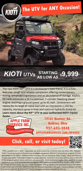 Kioti - The UTV for ANY Occassion!