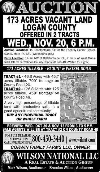 Auction - 173 Acres Vacant Land - Nov. 26