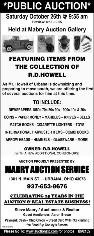 Public Auction - October 26th