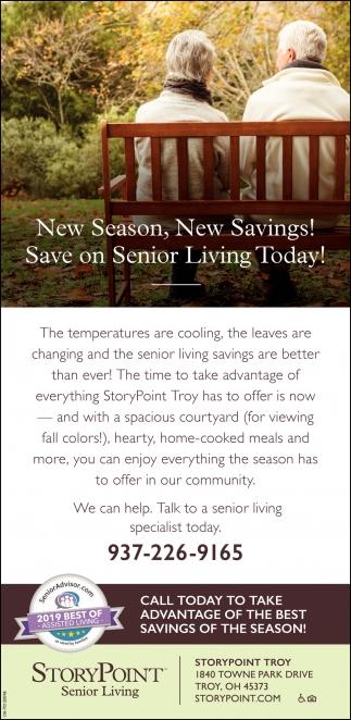 New Season, New Savings! Save on Senior Living Today!