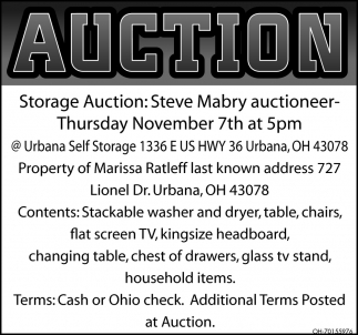 Auction - November 7th